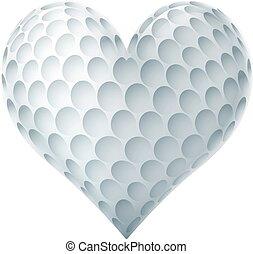 Golf Ball In A Heart Shape