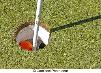 Golf ball in cup