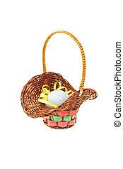 Golf ball in mini gift basket