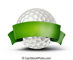 golf ball isolated on a white background