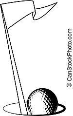 Golf ball logo
