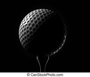 Golf ball on a tee
