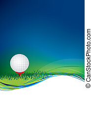 golf ball on background with copy area space - Golf ball on...