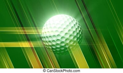 Golf ball on green and tan background