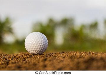 Golf ball on ground