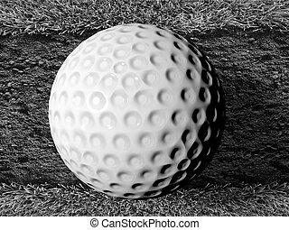 golf ball on soil