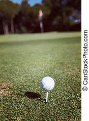 golf ball on tee