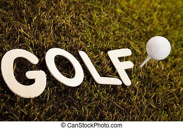 Golf ball on tee  - Golfball, Golf