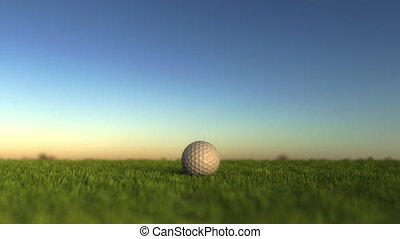 Golf ball on the grass, shallow focus - Golf ball on the...