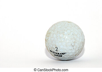 golf ball on white