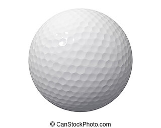 golf ball - An isolated golf ball on white background