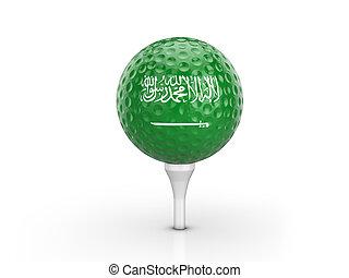 Golf ball Saudi Arabia flag