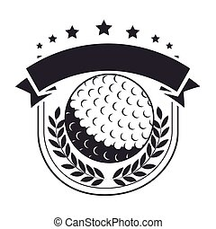 golf ball stamp label