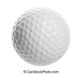 Golf ball - isolated golf ball closeup on a white background