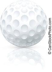 Golf ball, vector