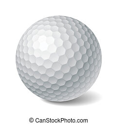 Golf ball - Vector photorealistic illustration of a golf ...
