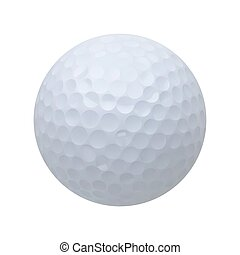 golf ball vector realistic illustration on white isolated background
