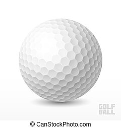Golf ball - White golf ball illustration