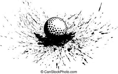 Golf Ball with Splatter