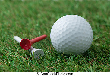 golf ball with tee