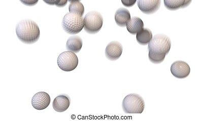 Golf balls fill screen transition composite overlay