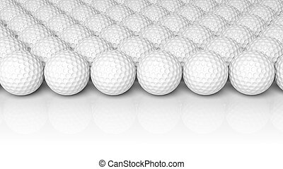 Golf balls, isolated on white background