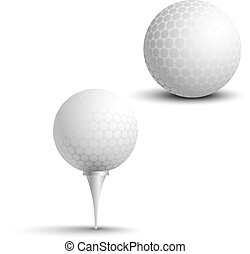 Golf balls on the stand