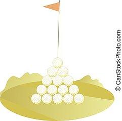 Golf balls pyramid