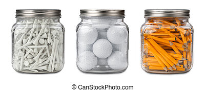 Golf Balls, Tees, and Pencils