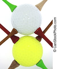 Golf Balls With Tees