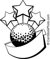 Golf Banner with Stars