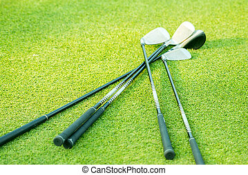 golf, campo, club