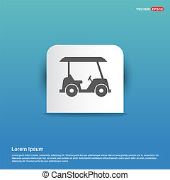Golf Car Icon - Blue Sticker button