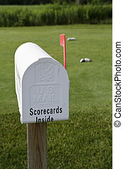 Golf Card and Pencils - Mailbox set up for forgetful golfers...