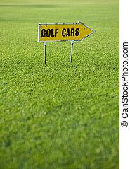 Golf cars sign