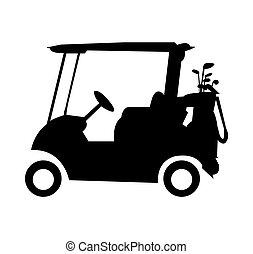 Golf cart caddy silhouette