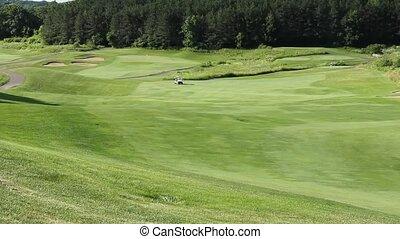 golf cart on a golf course