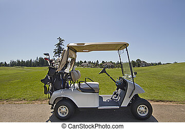 Golf Cart on the Green 2