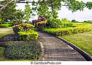 Golf Cart Path in a Philippine golf course