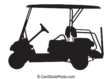golf car vector illustration isolated on white background