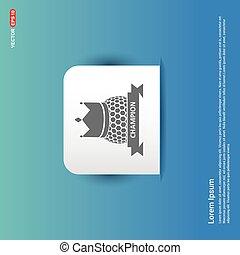 Golf Champion Icon - Blue Sticker button