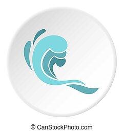 golf, cirkel, pictogram, blauwe