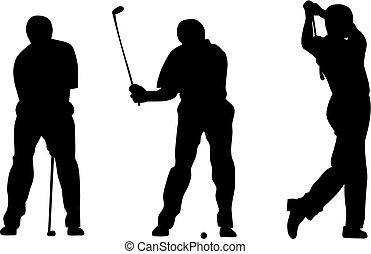 Golf - Abstract vector illustration of golfer