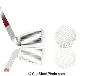 Golf club and a ball