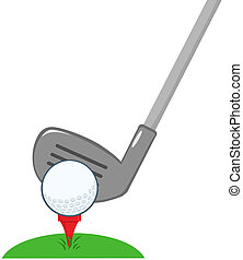 Golf Club And Ball Ready