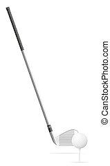 golf club and ball vector illustration