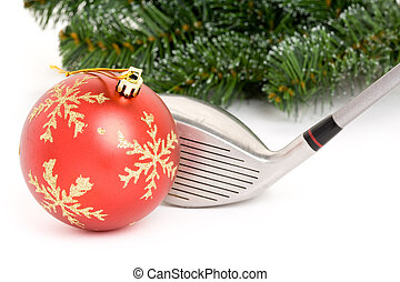 golf club and Christmas Ball