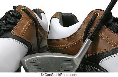 Golf Club and Shoes