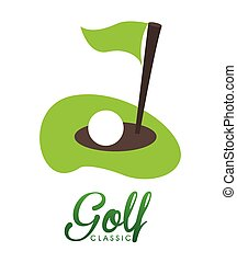 golf club design, vector illustration eps10 graphic