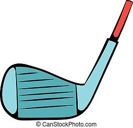 Golf club icon, icon cartoon